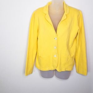 Banana Republic Yellow Soft Yellow Knit Blazer